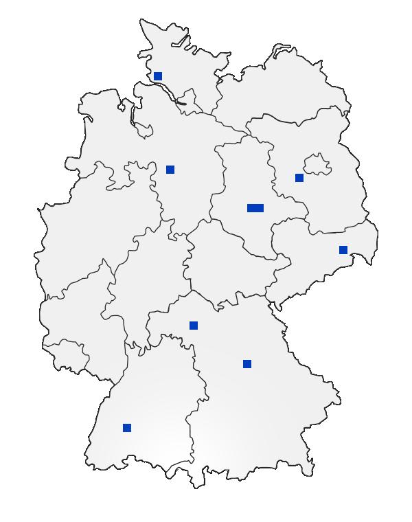 AGTB Standorte in Deutschland